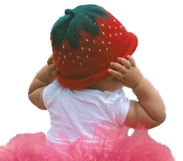 Felted Strawberry Hat